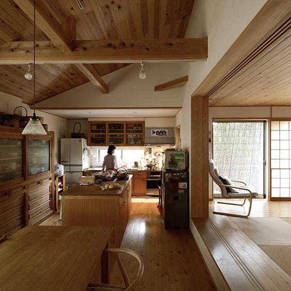 木の家 ダイニングキッチン 造作家具